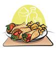 fajitas and nachos chips vector image vector image