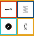 flat icon auto set of input technology tachometr vector image vector image