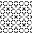 geometric seamless texture flowers crosses vector image vector image
