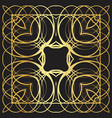 gold lines abstract floral vintage pattern vector image vector image