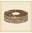 Grungy disc pile icon vector image vector image