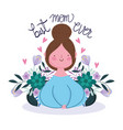 happy mothers day woman best mom ever phrase vector image