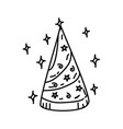 hat party icon doddle hand drawn or black outline vector image