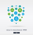 healthcare integrated thin line icons digital vector image vector image