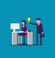 help with idea a colleague concept vector image