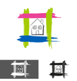 home house logo icon vector image vector image