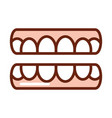 human body teeth mouth anatomy organ health line vector image vector image