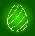 icon easter egg with a pattern vector image vector image