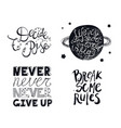 inspirational quote black ink brush vector image