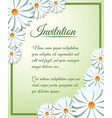 Invitation card template with paper flowers vector image