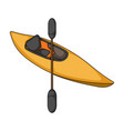 kayak with oarsextreme sport single icon in vector image vector image