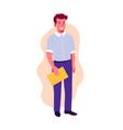 man character teacher student or businessman man vector image vector image