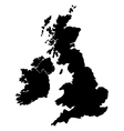 map britain vector image vector image