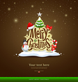 Merry christmas lettering design vector | Price: 3 Credits (USD $3)