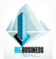 modern architecture business office building in vector image