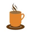 mug with hot beverage icon image vector image
