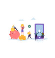 online banking concept flat people characters vector image