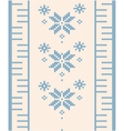 ornamental pattern for knitting vector image vector image
