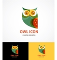 Owl outline icon and symbol vector image