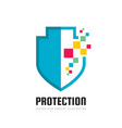 protection - business logo template concept vector image