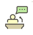public speaking icon design for business vector image