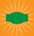 Radial stripes on orange with green frame vector image vector image