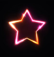 realistic isolated neon sign star for decoration vector image vector image