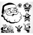 retro santa ornaments vector image vector image