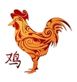 rooster as animal symbol chinese zodiac vector image vector image