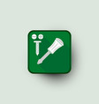 screw and screwdriver icon vector image