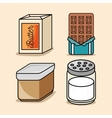 set butter chocolate salt icons vector image