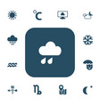 set of 13 editable climate icons includes symbols vector image vector image