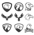 Set of emblems with eagles vector image