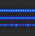 set of led glowing light stripes vector image vector image