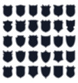 set of shields vector image vector image