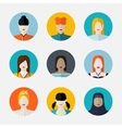set women avatars in flat style different vector image vector image