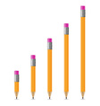 sharpened pencil 02 vector image vector image