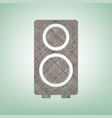 speaker sign brown flax icon vector image vector image