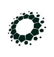 spiral design logo round logo design creative vector image vector image