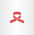 stylized cancer ribbon red logo icon vector image vector image