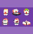 sushi and sashimi cartoon characters set asian vector image vector image