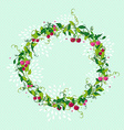 Sweet cherry wreath cute vector image