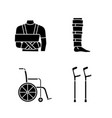 trauma treatment glyph icons set vector image vector image