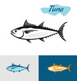 Tuna black silhouette Simple of a tuna fish vector image