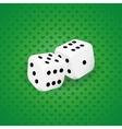Two white dice vector image vector image