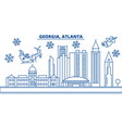 usa georgia atlanta winter city skyline merry vector image vector image
