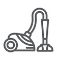 vacuum cleaner line icon appliance and home vector image