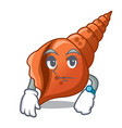 waiting long shell mascot cartoon vector image