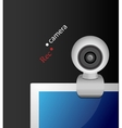 Web camera on monitor vector image