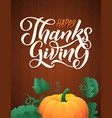 with pumpkins on wood vector image vector image